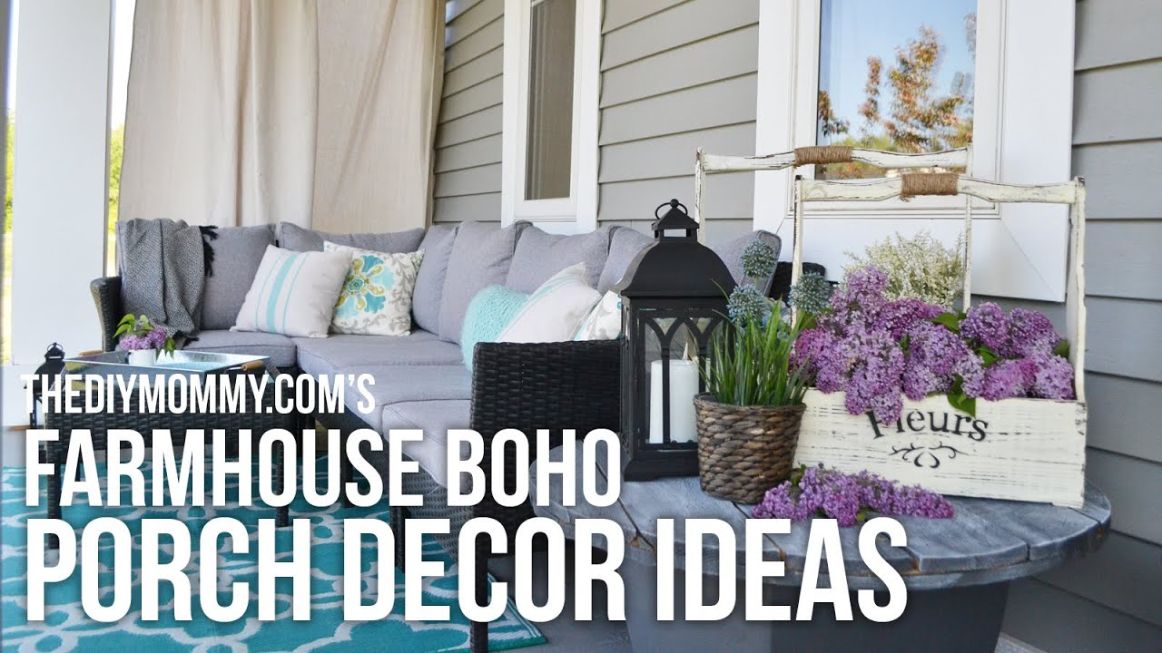 farmhouse boho diy porch decor ideas // our 2016 porch tour - youtube