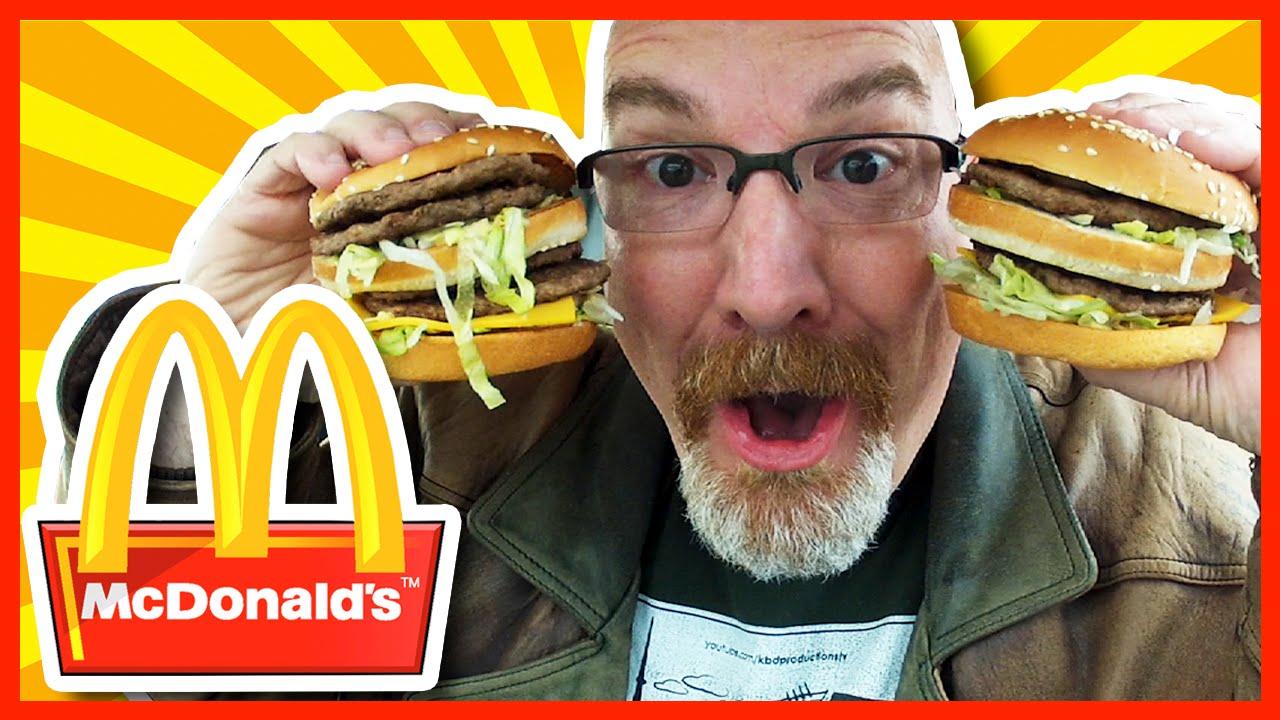 McDonald's Double Big Mac X2 Review & Challenge 1590 CALORIES