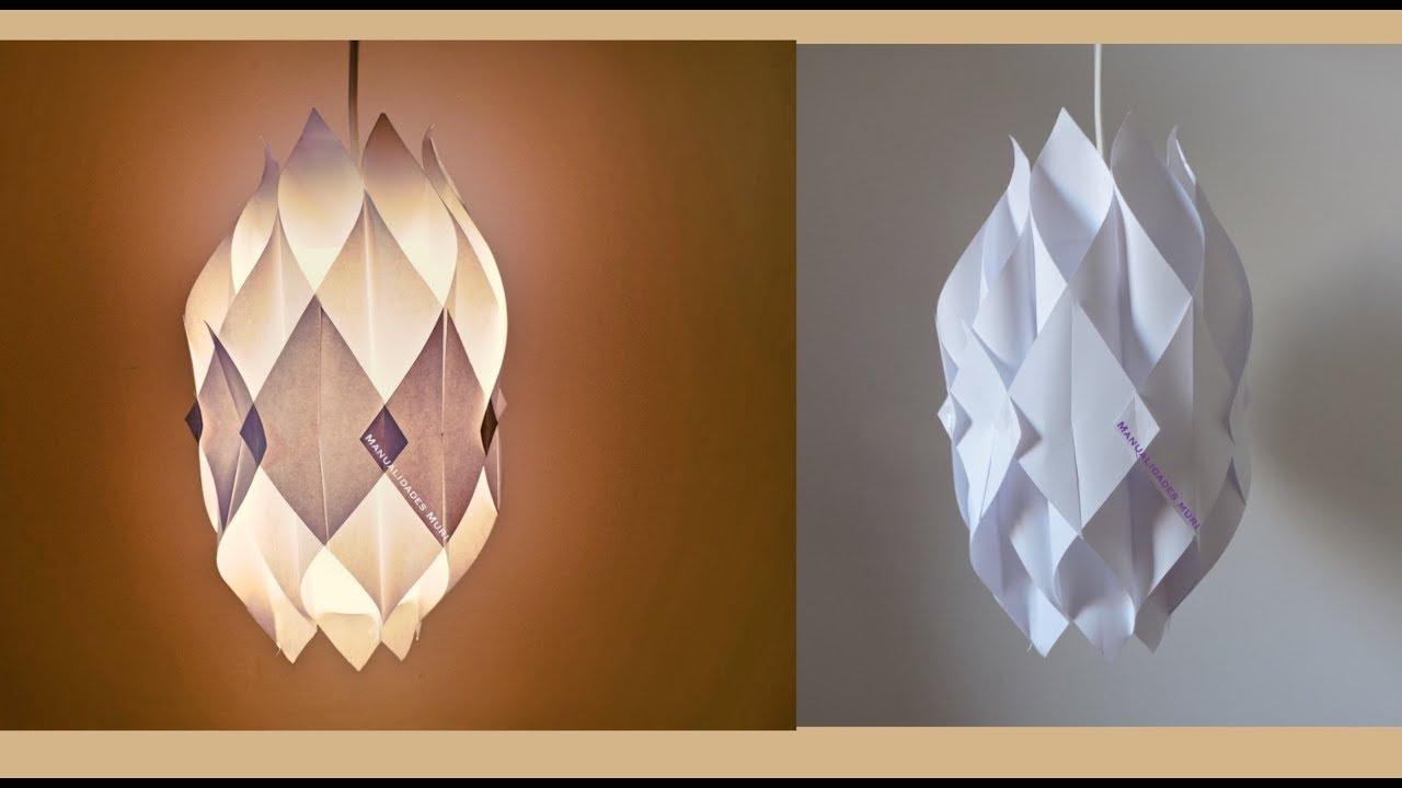 colgantes como lamparas papel hacer de EHD9Y2IW