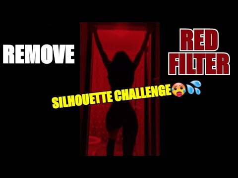 How To Remove Red Filter On Silhouette Challenge Tiktok Youtube