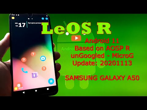LeOS R unGoogled for Samsung Galaxy A50 Android 11