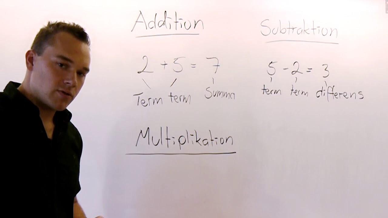 Tal 6. De fyra räknesätten. Matematik åk 7. Kapitel 1, avsnitt 6.