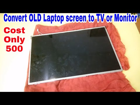 How To Make Portable TV Or Monitor Using Old Laptop Screen