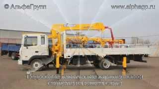 Работа крана манипулятора Hyundai HD120 с КМУ 6 тн.(, 2014-04-08T15:15:05.000Z)