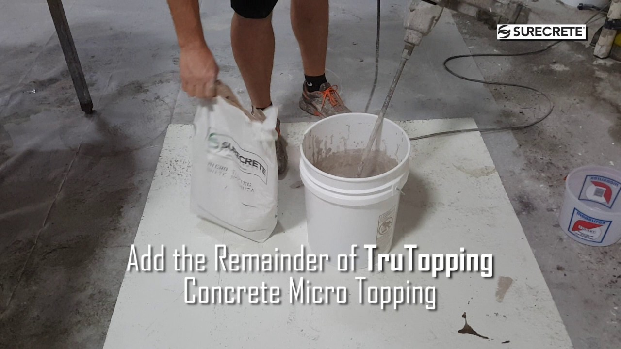 How To Mix Surecrete Micro Topping Trutopping Thin