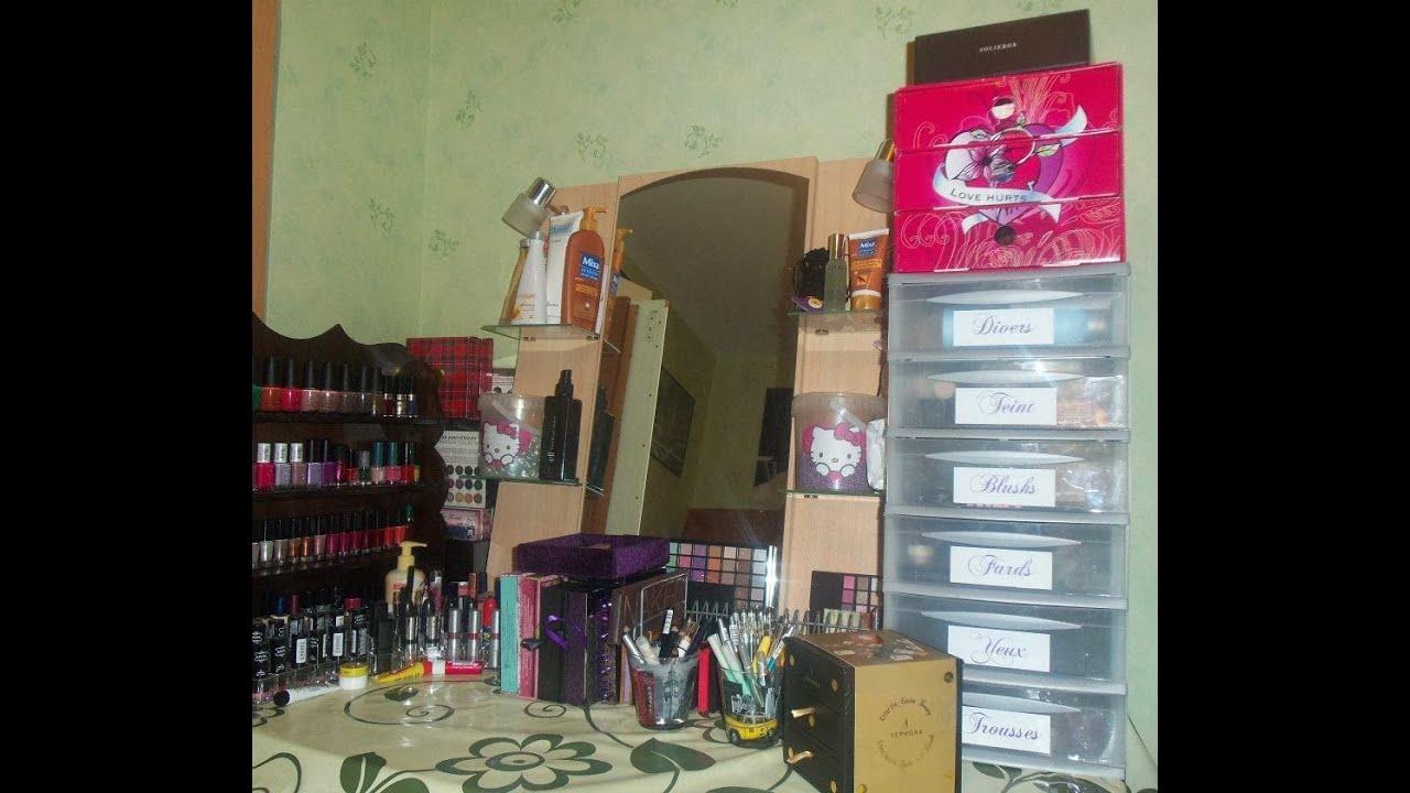 Rangement collection maquillage - Rangement palette maquillage ...