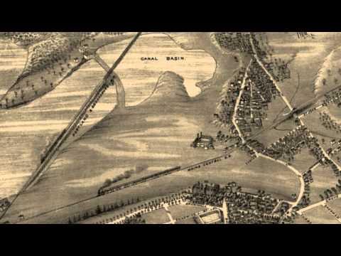 Portland Maine 1876 Panoramic Bird's Eye View Map 6649