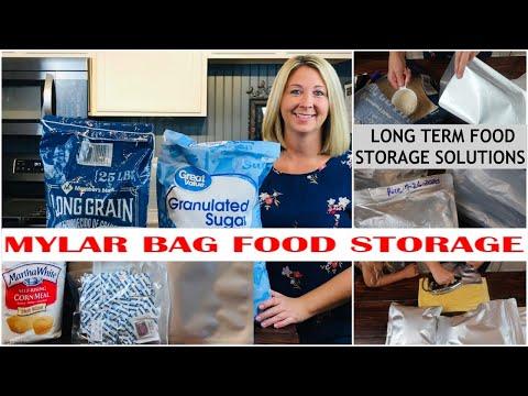 MYLAR BAG FOOD STORAGE | LONG TERM FOOD STORAGE | STORING DRY GOODS | PREPPING | PANDEMIC PREP