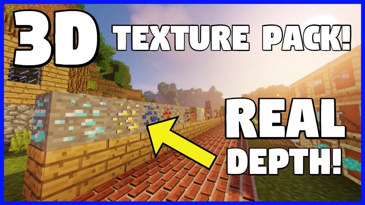 Minecraft   3D Texture Pack Showcase! - Default 3D Resource Pack (1.12 - 1.13.2) - YouTube