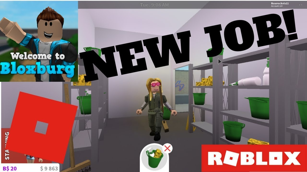 Bloxburg new jobs janitor and lumber youtube for Kitchen designs bloxburg