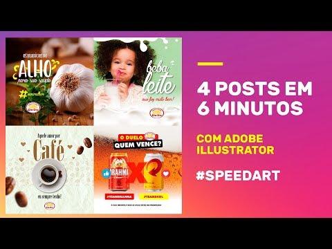 4 POSTS EM 6 MINUTOS - #SPEEDART