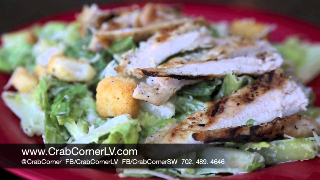 grilled chicken caesar salad - crab corner | best lunch in las
