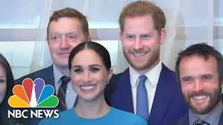 Harry And Meghan Take Part In Final Royal Events | NBC Nightly News