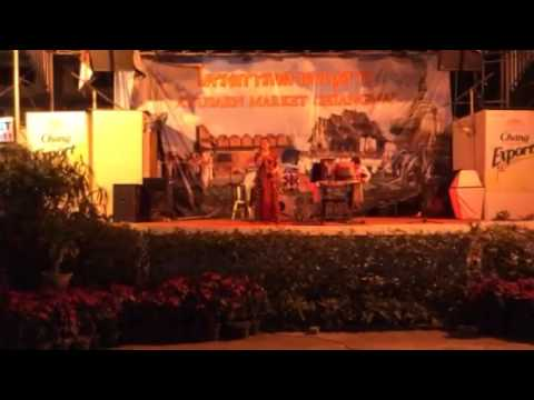 Open Air Karaoke in Chiang Mai Thailand Singing in japanese