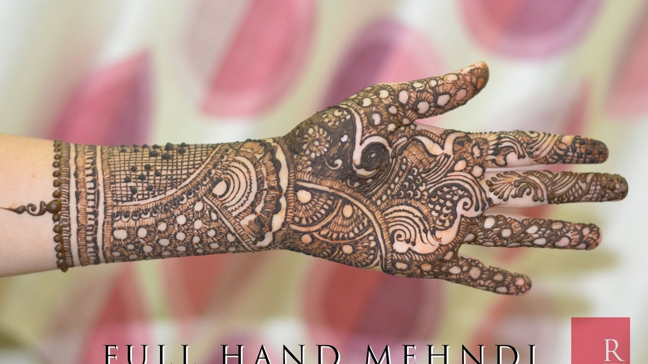 Mehndi Design For Fingers Front Side : Full hand latest mehndi design tutorial front side