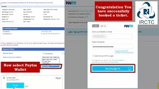 Payment Using Paytm Wallet: Book Train Tickets on IRCTC Quickly