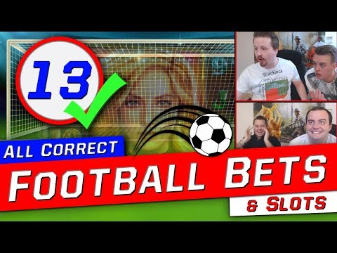 Football betting: 13 correct outcomes on Stryktipset + 256 x on The Final Countdown slot