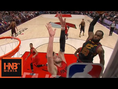 LeBron James EPIC Dunk Over Jusuf Nurkic / Cavs vs Blazers