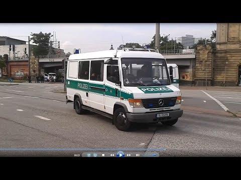 Hamburg G20 Polizeipferde und Polizei Berlin am Dammtor Bahnhof