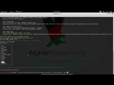 SQL Injection - Afghan Ghost Army