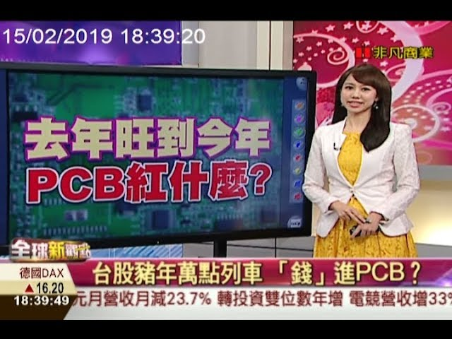 金豬年萬點列車 台股資金「錢」進PCB /全球新觀點20190215