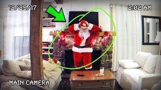 SANTA CAUGHT ON CAMERA IN REAL LIFE