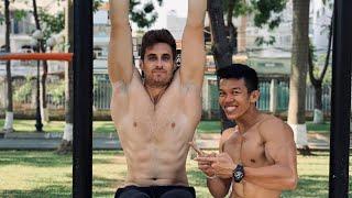 Thử thách HÀNH TÂY: Kéo xà TẠ đến CHẾT cùng Dustin! - Weight Pull Up Challenge - Làng Hoa Workout.