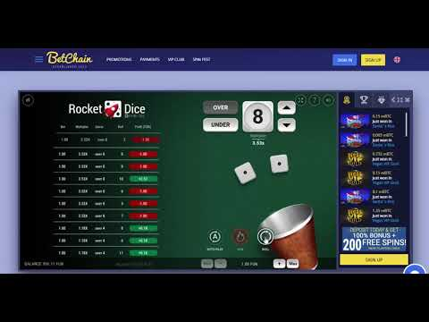 Bitcoin Dice - Play Bitcoin Dice Games | BetChain Casino