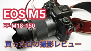 EOS M5とEF-M18-150mm F3.5-6.3 IS STM撮影レビューその1