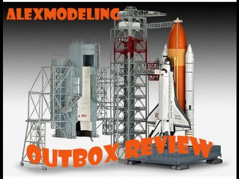 "AlexModelling ""OUTBOX REVIEW"" Revell 1/144 Launch tower and space shuttle with rocket booster"""