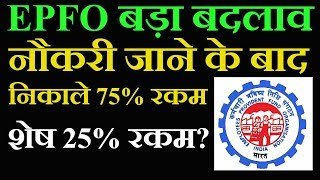 EPFO Latest News Today | EPF Withdrawal Online Rules 2018 in Hindi | PF Benefits For Employees