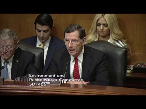 Barrasso Disappointed by Democrats' Boycott of Pruitt Vote