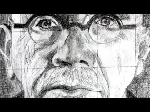 how-to-use-the-grid-method-with-a-drawing-of-chuck-close-as-an-example