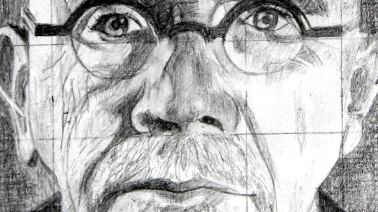 How to use the Grid Method with a Drawing of Chuck Close as an ...