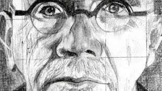 How to use the Grid Method with a Drawing of Chuck Close as an Example