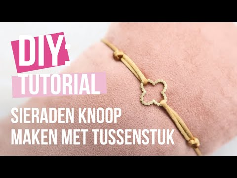 DIY Tutorial: Verschuifbare sieraden knoop maken met draad ♡ DIY