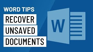 Word Quick Tip: Rec๐ver Unsaved Documents