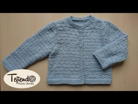 Chaqueta para bebé de 0 a 3 meses tejida en dos agujas ( 1 de 2 ...