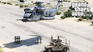 GTA 5 Military Mod | USAF MH-53J Pave Low III Helicopter Extracting Special Operations Team