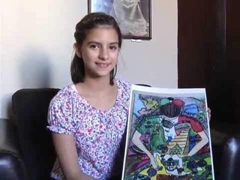 Nia coahuilense busca ganar concurso de dibujo etapa nacional