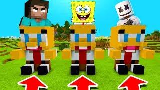 Minecraft PE : DO NOT CHOOSE THE WRONG SPONGEBOB! (Herobrine, Spongebob & Marshmello)