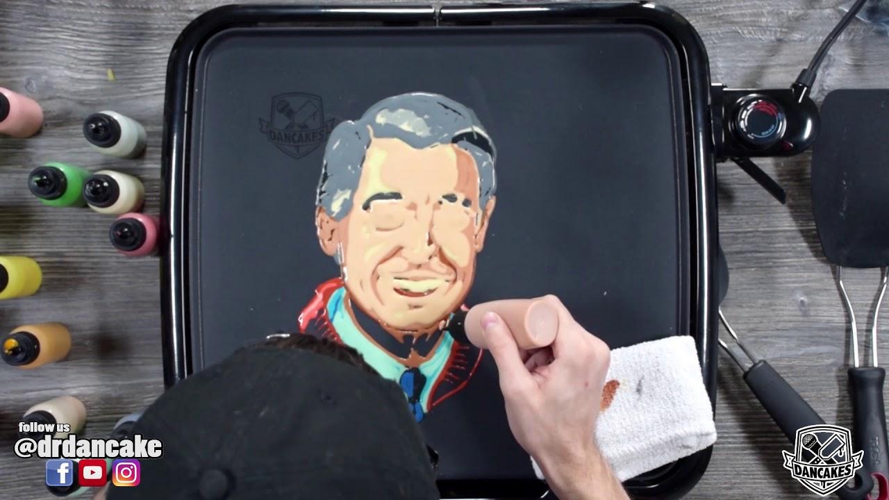 Mr  Rogers (Mister Rogers' Neighborhood) Pancake Art