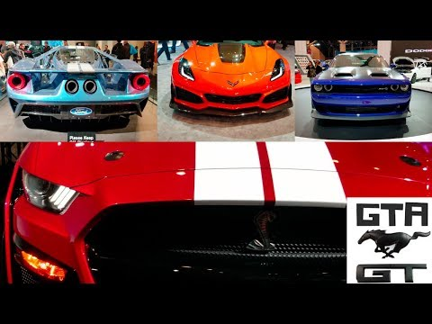 Canadian International Autoshow Toronto/Shelby GT 500,Ford GT,Corvette ZR1,Hellcat Red eye and more!