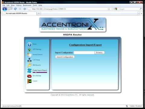 Accentronix HSDPA Router Demonstration