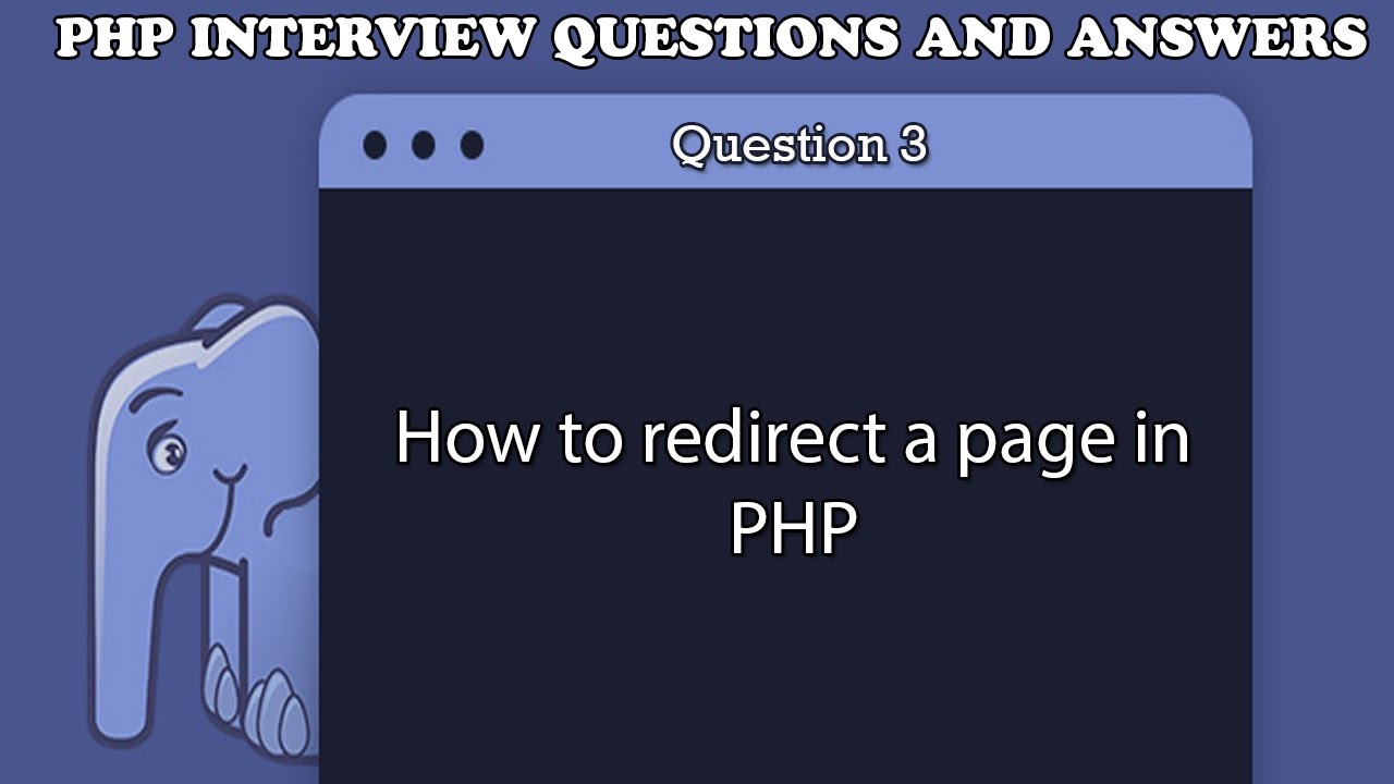 How to redirect a page in PHP - YouTube