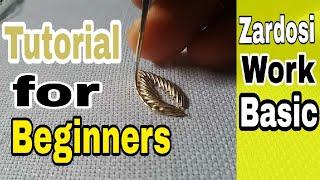 zardosi work for beginners  | Hand Embroidery  | zardozi