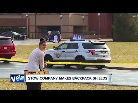 Stow company sees increased demand for bulletproof backpack shields