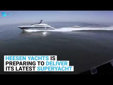 Heesen SUPERYACHT IRISHA North Sea Sea Trials
