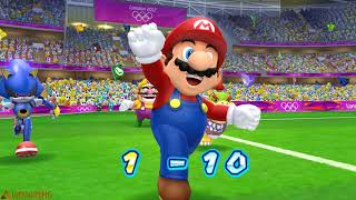 Mario & Sonic at the London 2012 Olympic Games#Football Versus  | 2 player #168