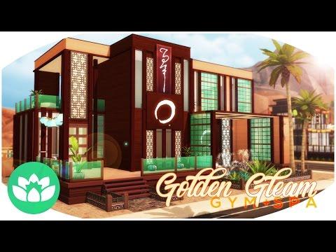 Sims 4 Spa Build - Golden Gleam Gym + Spa